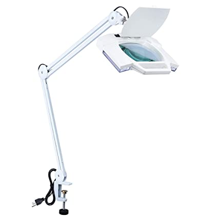 Aw 5x Magnifying Lamp Clamp On Desk Tabletop Lamp Light Magnifier