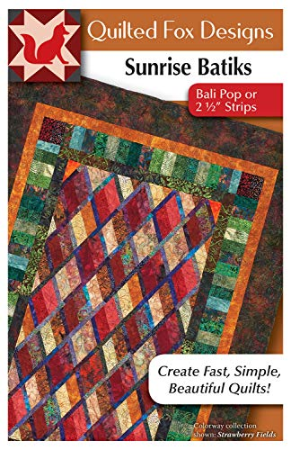(Sunrise Batiks Quilt Pattern: Bali Pop or 2 1/2