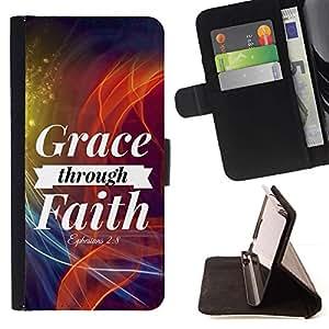 Momo Phone Case / Flip Funda de Cuero Case Cover - BIBLIA gracia mediante la fe - Efesios 2: 8; - Samsung Galaxy S3 III I9300