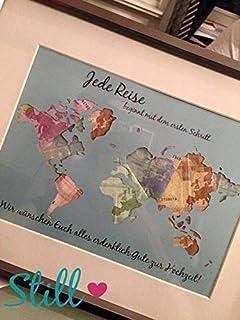 Weltkarte Mylar Schablone A2/594/x 420/mm-Wand M/öbel Art