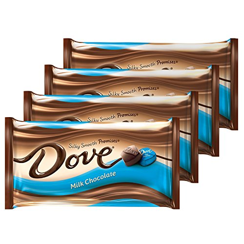 DOVE PROMISES Milk Chocolate Candy 8.87-Ounce Bag (Pack of 4) (Desserts Sized Bite)