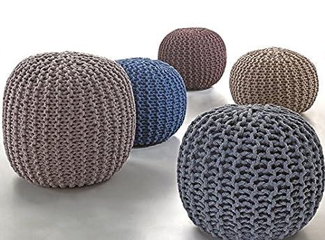 Misure Pouf.Pouf Corda Disponibile In 2 Misure 5 Colori Disponibili Poltrona Relax Divano 40x40x60 Blu