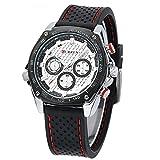 Deportes Y Aire Libre Best Deals - Curren Deporte al aire libre militar de silicona banda reloj de pulsera de cuarzo analógico-Negro Hombres