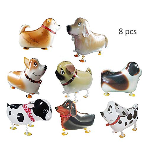 TangTanger 8 pcs Walking Animal Balloons Pet Dog Balloons Puppy Dogs Birthday Party Supplies Kids Balloons Animal Theme Birthday Party Decorations]()