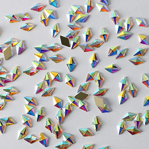 100pcs Ultra Sparkle&Shine AB Crystal Bead Rhombus Shapes