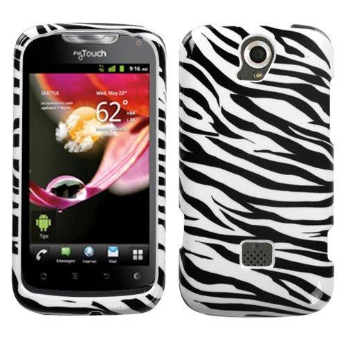 (MYBAT HWU8730HPCIM056NP Slim and Stylish Protective Case for Huawei myTouch - 1 Pack - Retail Packaging - Zebra Skin)