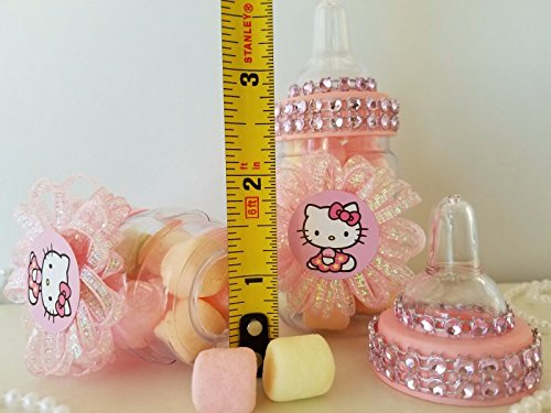 12 Hello Kitty Fillable Bottles Favors Prizes Games Baby Shower Girl Decorations by Product789 (Image #1)