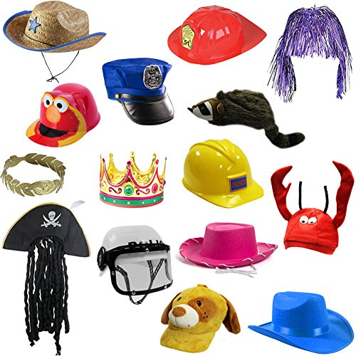 [6 Assorted Dress Up Costume & Party Hats by Funny Party Hats (6 Child Costume Hats)] (Funny Costumes For Kids)