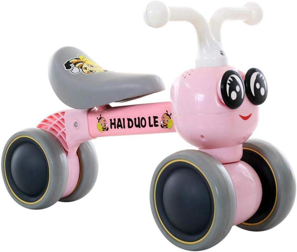 BTTHWR Bicicleta De Bebé para 6-24 Meses Sin Pedales Sturdy Balance Bike para,Rosado