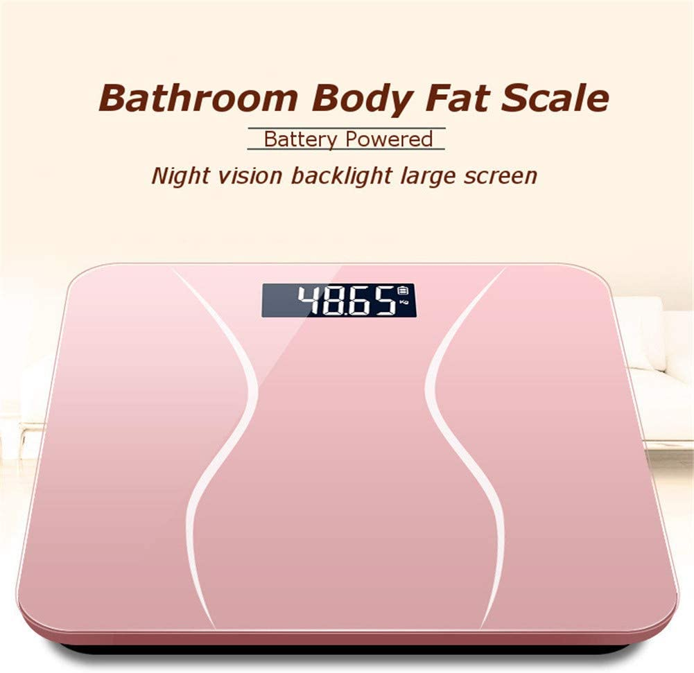 CCHM Body Fat Scale Glass Bathroom Smart Scales Electronic Digital Weighing Scale Black