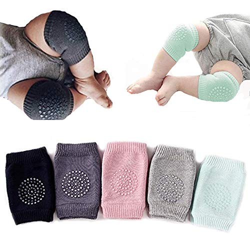 Gijoki Kids Anti-Slip Kneepads Baby Non-Slip Knee Pads Toddlers Crawling Sports Protective Gear Socks