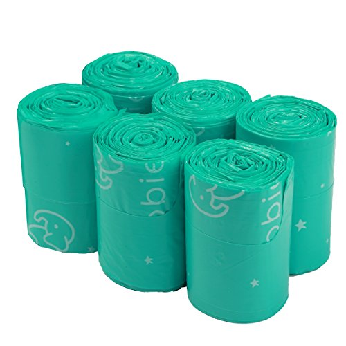 Goobie Baby Diaper Bag Dispenser Refill Rolls of Unscented Disposable Refill Bags | Waste Bag (6 Roll Bag Refill - 150 ()