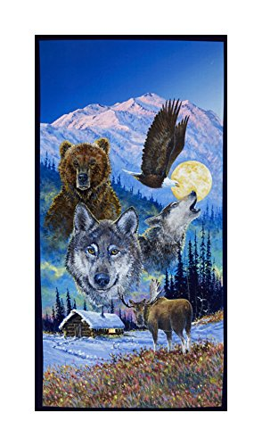P & B Textiles Collection Of Alaska'S Artist Jon Van Zyle Montage 22in Panel Multi Fabric By The Yard -  26788-4743-MUL1