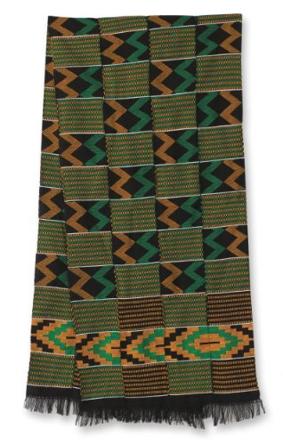 NOVICA Multicolor Kente Cloth Scarf, 'His Better Half' by NOVICA