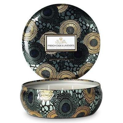 OKSLO Voluspa French Cade Lavender 3 Wick Candle Tin-Ltd Edition