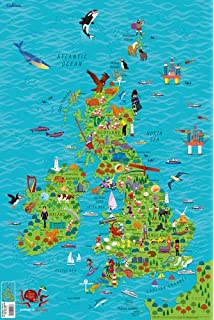 Children S Wall Map Of The United Kingdom And Ireland