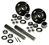 R and P Carriages Build Your Own Trailer Axle 4 x 4 Bolt Hub Assembly with 1'' Straight Round Spindles & Bearings