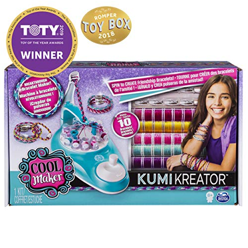 Cool Maker KumiKreator Friendship Bracelet Maker, Quick & Easy Activity Kit for Kids Ages 8 and Up]()