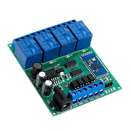 Kangnice 4-Channel DC 5V 9V 12V 24V Bluetooth Relay Module Wireless Remote Control Switch