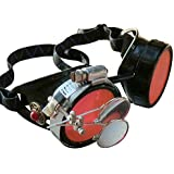 Steampunk Victorian Goggles welding Glasses diesel punk--limited GGG-red by umbrellalaboratory