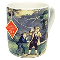 Benjamin Franklin Electrici-Tea Mug - Recreate Franklin's Famous Experiment With Your Tea - Comes in a Fun Gift Box