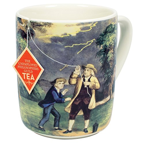 Benjamin Franklin Electrici-Tea Mug - Recreate Franklins Famous Experiment With Your Tea - Comes in a Fun Gift Box