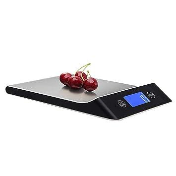 XQxiqi689sy Domestico 5/10/15 kg Portátil Cocina electrónica precisa LCD Peso Alimentario Báscula