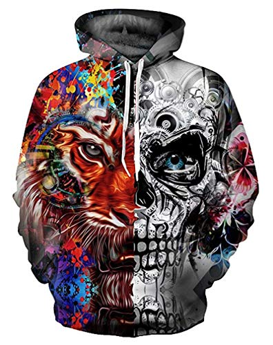 Halloween Pumpkin Skull 3D Hoodies Fashion Loose Sweatshirt Tracksuit Loose-Fit