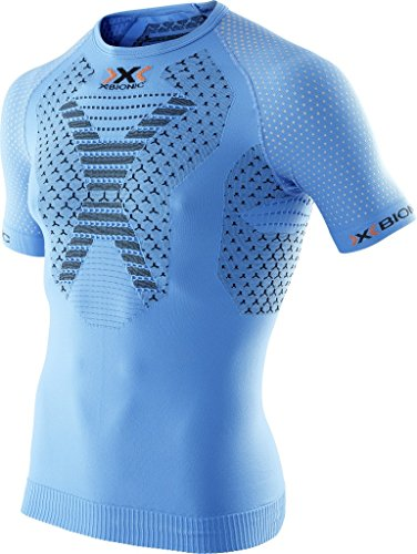 X-BIONIC - Running Twyce Shirt S/S, color azul
