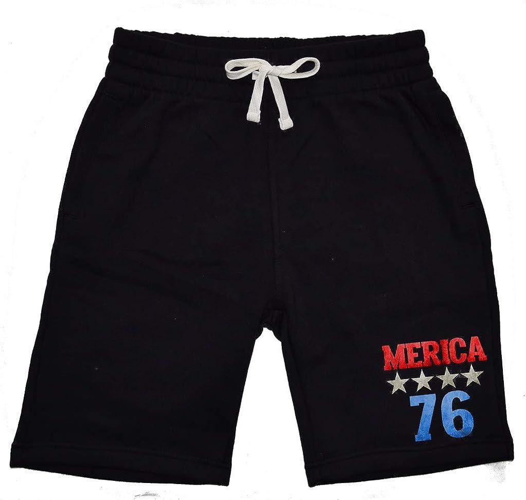 Mens Merica 76 KT T36 Black Fleece Jogger Sweatpant Gym Shorts Medium Black