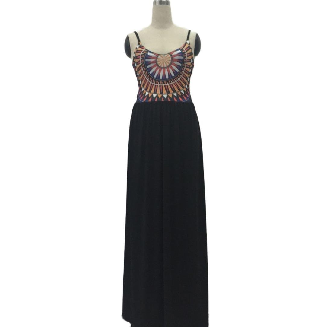 Usstore Women Camisole Long Dress Cotton Sleeveless Dresses (XL, Black) by Usstore (Image #7)