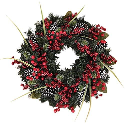 - The Wreath Depot Tunbridge Winter Berry Wreath, 22 Inch