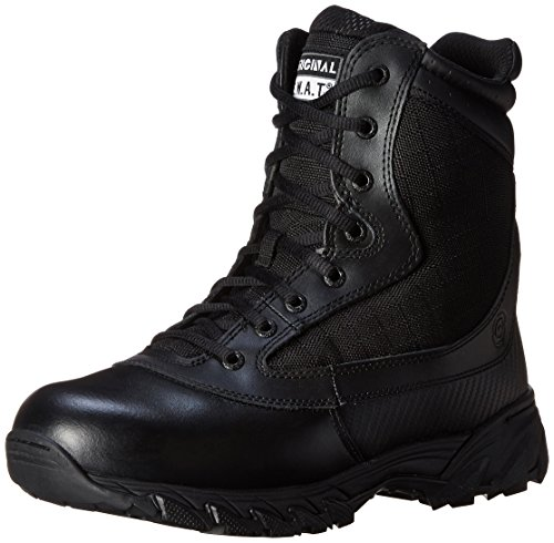 Original Swat Chase 9in Tactical Side Zip Boots, Black, Size