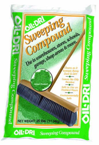 Oil-Dri L91025-G90 Sweeping Compound Bag, 25 lbs, (Kleen Sweep)
