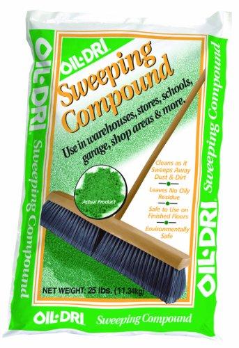 (Oil-Dri L91025-G90 Sweeping Compound Bag, 25 lbs, Green)