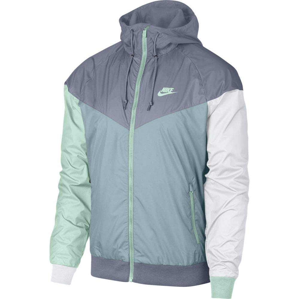 NIKE Men's Windrunner Full Zip Jacket (XL, Ashen Slate/Ocean Bliss) by Nike