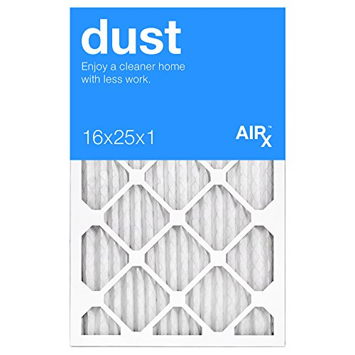 Best for Dust Control - AiRx Dust 16x25x1 Furnace Filters - Pleated 16x25x1 MERV 8 Air Filters, AC Filter, Air