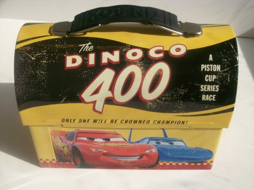 Cars Disney Collectible Tin Vintage style Lunch Box - The Dinoco (Diecast Hauler Collectible)