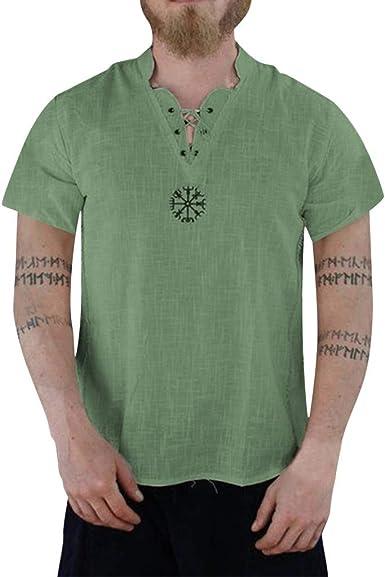 Bellelove Summer - Camisa vaquera de manga corta para hombre ...