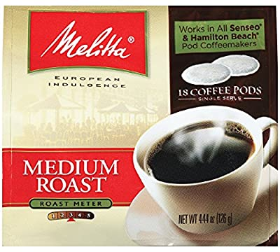 Melitta Medium Roast Soft Coffee Pods 18 Count Bag by Melitta