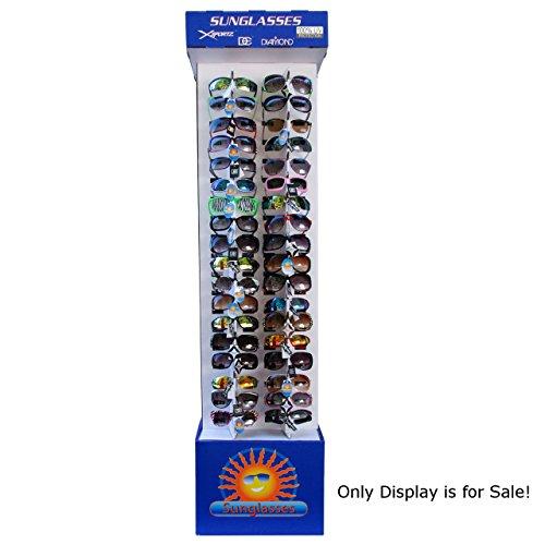 Two Sided Floor Model Cardboard Sunglasses Display 62.5