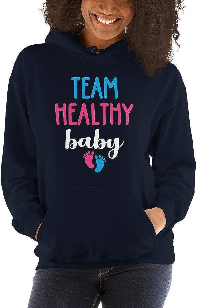 TEEPOMY Team Healthy Baby Gender Announcement Party Unisex Hoodie