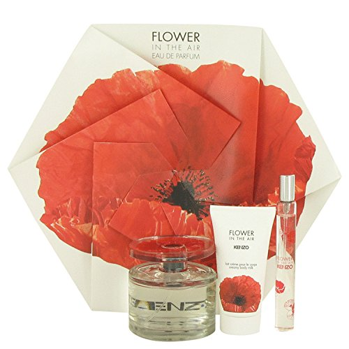Kenzo Flower In The Air by Kenzo Gift Set - 3.4 Oz EDP Spray 1.7 Oz Creamy Body Milk .5 Oz Mini EDP Spray Women