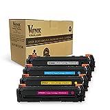 V4INK New Compatible HP 202X CF500X CF501X CF502X CF503X Toner Cartridge for HP Color LaserJet Pro MFP M281dw M281cdw M281fdw, MFP M280, M254dw, 4 Pack