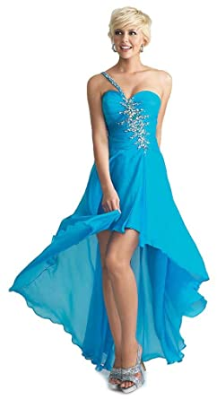 Teal High Low Prom Dresses