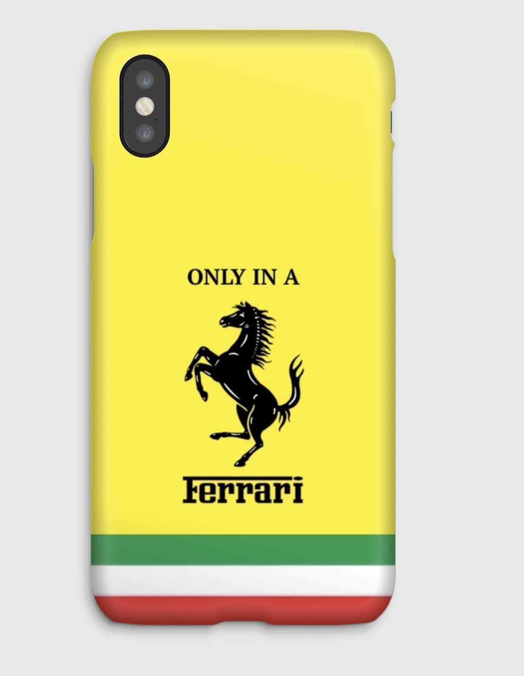 Only in a Ferrari J, coque pour iPhone XS, XS Max, XR, X, 8, 8+, 7, 7+, 6S, 6, 6S+, 6+, 5C, 5, 5S, 5SE, 4S, 4,