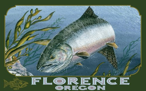 Northwest Art Mall Florence Oregon Kelp King Salmon Unframed Prints by Dave Bartholet, 11-Inch by - Florence Mall The
