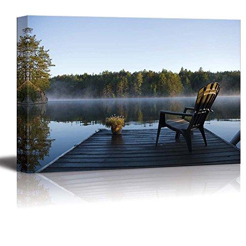 Morning View at Weslemkoon Lake - Canvas Art Wall Decor - 24