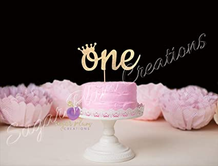 Amazon.com: One Cake Topper with Crown, Princess First Birthday