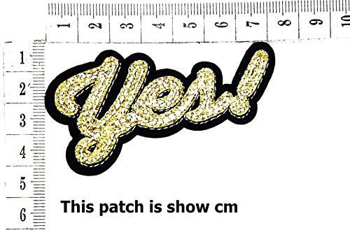 Yes! Super Power Joke Funny Words Cartoon Chidren Kids Embroidren Iron Patch/Logo Sew On Patch Clothes Bag T-Shirt Jeans Biker Badge Applique